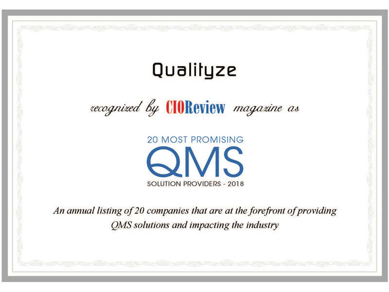 Qualityze  – A Yardstick of Quality
