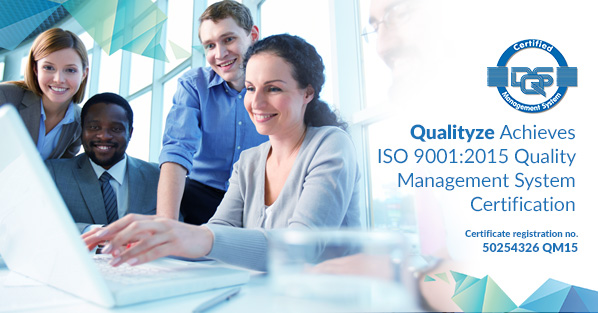 Qualityze Achieves ISO 9001:2015